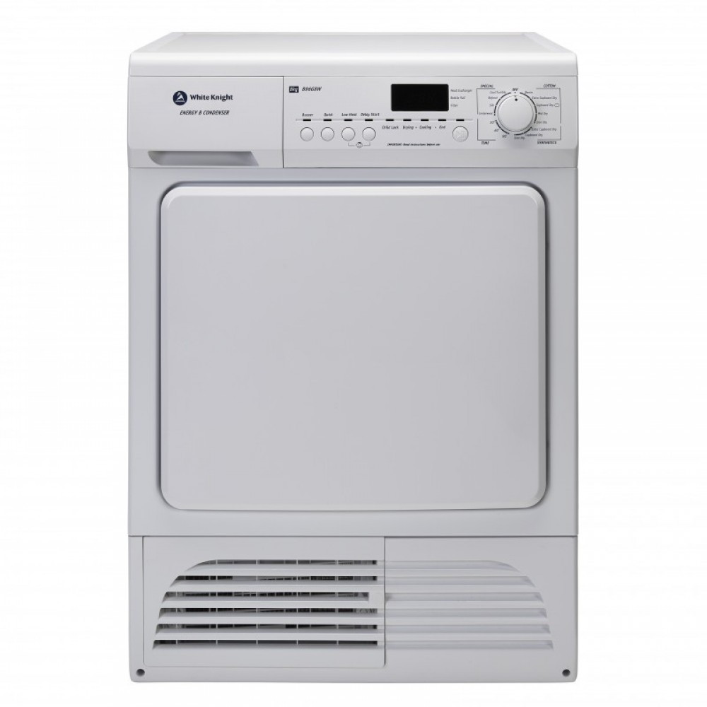 White Knight B93G8W 8kg Freestanding Condenser Tumble Dryer White