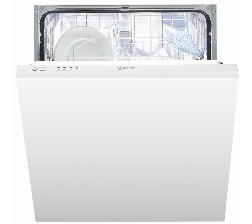 Indesit DIF 04B1 59.5 cm Fully Integrated Dishwasher - White